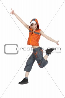Break Dancing Girl