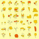 vectorial trees in autumn