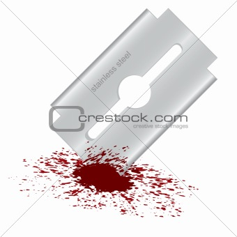 Bloody razor blade