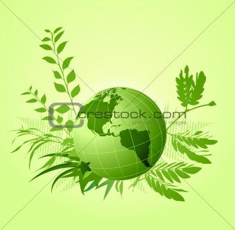 green floral ecological  Background