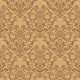 Seamless brown floral wallpaper