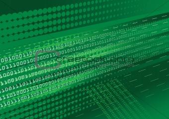 Green binary code background