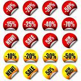 Vector price stickers