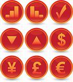 financial web icons set