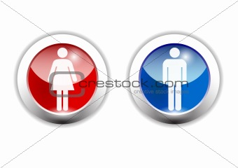 boy and girl icon made in illustrator cs4