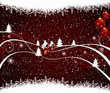 Abstract winter vector design