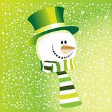 The green snowman