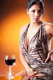 Cute red wine drinker