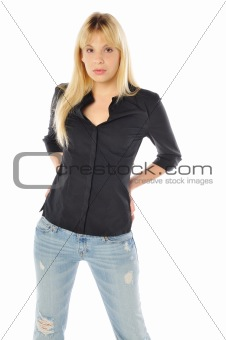 attractive model dressed casual