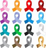 16 Awareness Ribbons