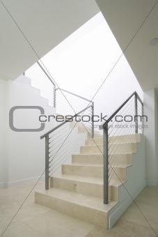 Blank stairway