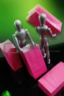 Dummies with gifts