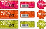 collection of price labels