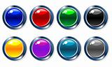 Glossy vector buttons