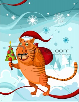 chrismas tiger