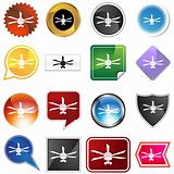 Celing fan icon set