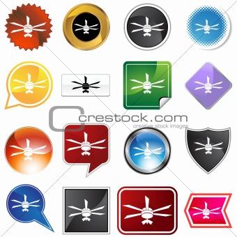Celing fan icon set