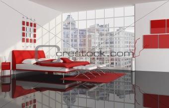 bedroom of a city apartment