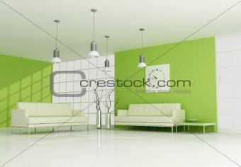 green contemporary interior