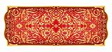 Red gold eastern ornament vector