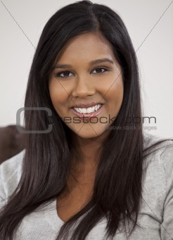 Portrait Of Beautiful Young Indian Asian Woman