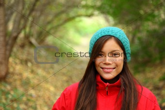 Autumn woman smiling