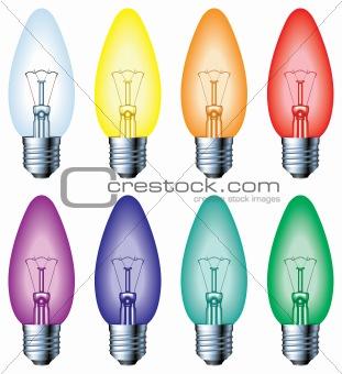 Normal colour light bulbs
