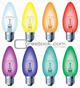 Normal colour light bulbs