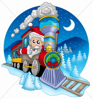Santa Claus in train