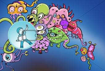 Cyberspace Virus Attack