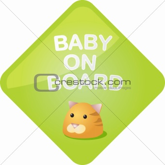 Baby on board cat