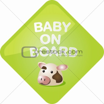 Baby on board cow