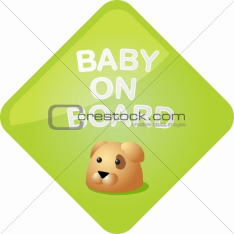 Baby on board dog