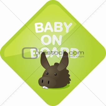 Baby on board donkey