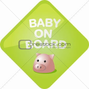 Baby on board pig