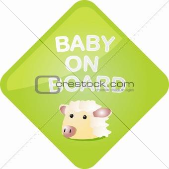 Baby on board sheep