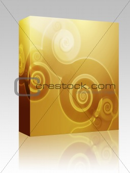 Abstract swirly floral grunge illustration box package
