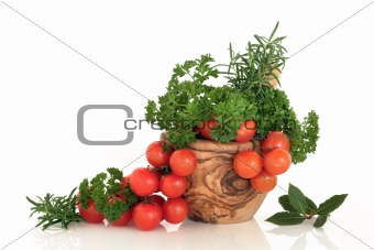 Tomato and Herb Leaf Selection