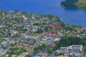 New Zealand City Table Tilt Shift