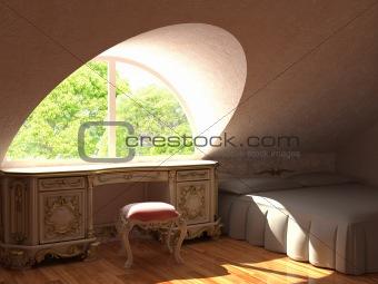 fragment of barocco interiors