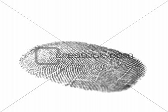 Black fingerprint isolated on white