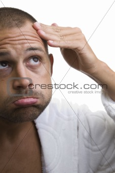 Man and his balding head