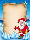 Christmas parchment with Santa Claus 4