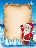 Christmas parchment with Santa Claus 5