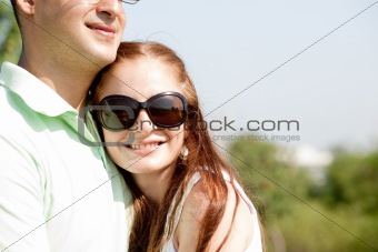 beautiful Couple Hugging