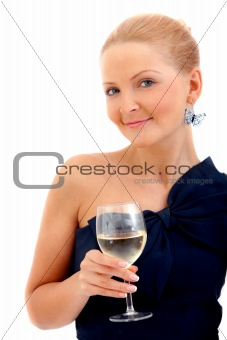 Cocktail woman isolated