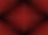 Honeycomb Background Seamless Red