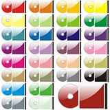 fully editable vector twenty-five colored CD and case ready to use
