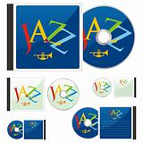fully editable vector colored CDs and cases with music layout ready to use