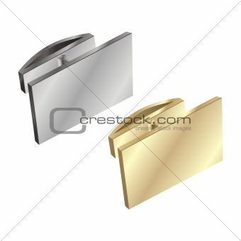 fully editable vector cuff links  ready to use